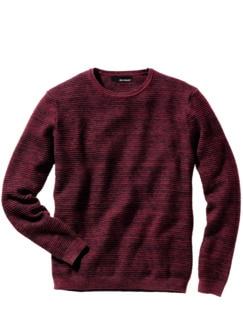 Tiefgang-Pullover rot/schwarz Detail 1