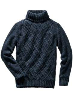 Fischernetz-Pullover blau/grau Detail 1