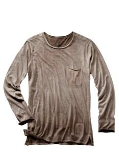 Garagen-Shirt Crew-Neck wüstensand Detail 1