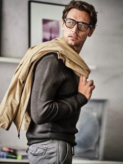 Kann-doch-Pullover braun Detail 2