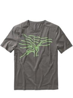 Kappelberg-T-Shirt fog grey Detail 1