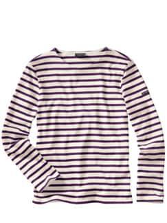 Bretagne-Shirt Meridien ecru/pflaume Detail 1