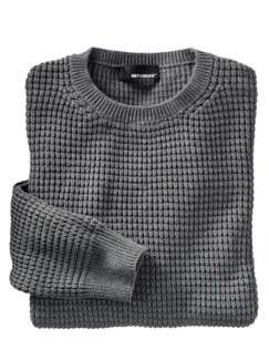 Der Graue Pullover grau Detail 1