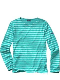 Scribbled-Bretagne-Shirt Streifen azur Detail 1