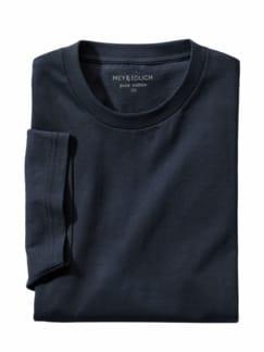 Regular Benchmark-Shirt Rund marine Detail 1