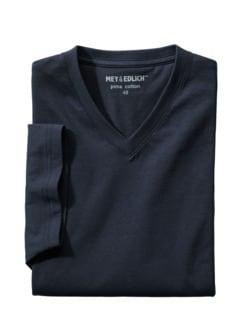 Regular Benchmark-Shirt V-Neck marine Detail 1