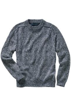 Kelten-Pullover blau/weiß Detail 1