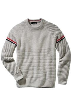 Protektoren-Pullover grau Detail 1