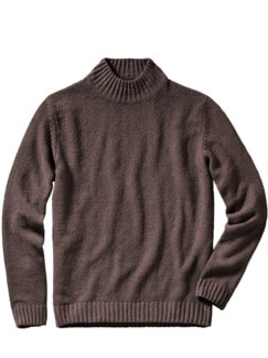 Boucle-Turtleneck braun Detail 1