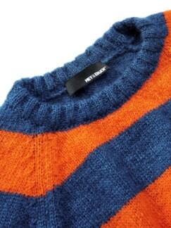 Energiespar-Pullover Streifen blau/orange Detail 3