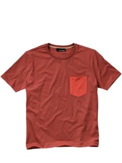 Arriviertes Shirt dunkelrot Detail 1