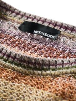 Charakterstück-Pullover Streifen natur Detail 4