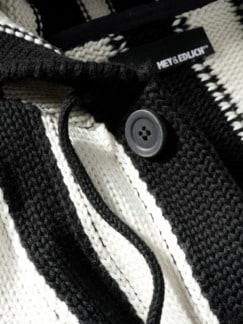 Haight-Ashbury-Cardigan schwarz & weiß Detail 4