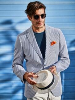 Schmirgel-Pullover blau Detail 3