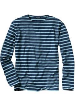 Bretagne 1858-Shirt Classic Streifen blau/hellblau Detail 1