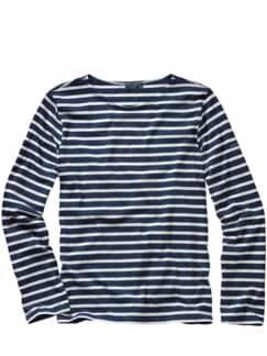Bretagne-Shirt Streifen blau/weiß Detail 1