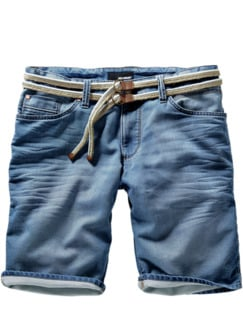 Denim-Joggshorts blau Detail 1
