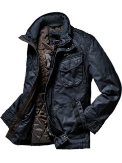 Dry-Wax-Jacke blau Detail 1