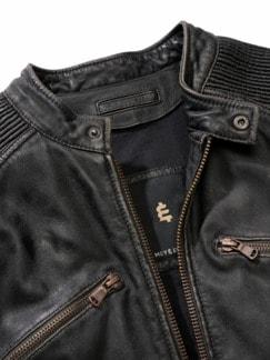 Erbstück-Lederjacke dunkelbraun Detail 4