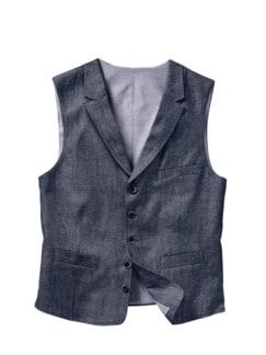 Denim-Weste jeansblau Detail 1