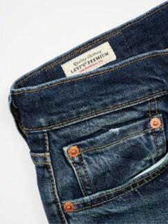 WaterLess Jeans 512 dark blue Detail 4