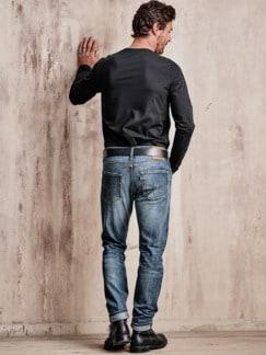 WaterLess Jeans 512 dark blue Detail 2