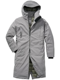 Oslo-Parka XXL light grey Detail 1