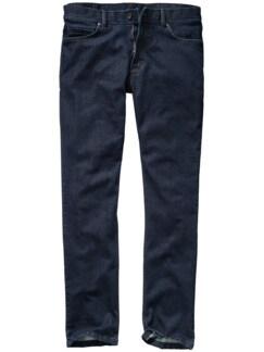 Gespülte Jeans tiefblau Detail 1