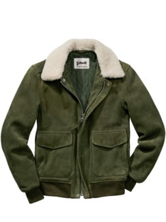 Schott Aviator Jacket khaki Detail 1