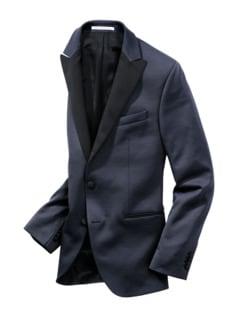 Gentleman`s Smokingjackett italienischblau Detail 1