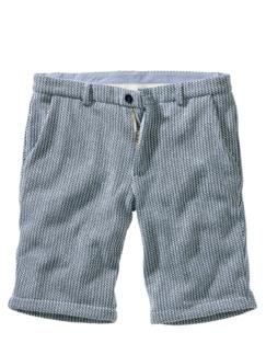 Lounge-Shorts Streifen azur/weiß Detail 1