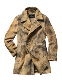 Lederwerk Mantel Duke beige Detail 1
