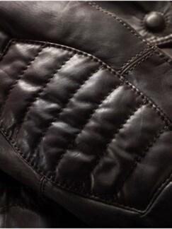 Lederparka Sherman mahagoni Detail 3