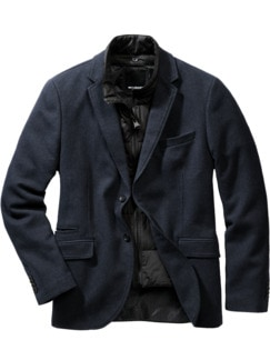 Split Jacket navy Detail 1