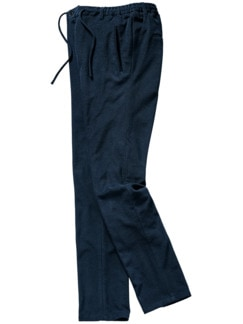 Frottee-Anzughose dunkelblau Detail 1
