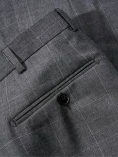 Geschichten-Anzughose Karo grau Detail 4