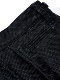 Leinenanzughose schwarz Detail 3