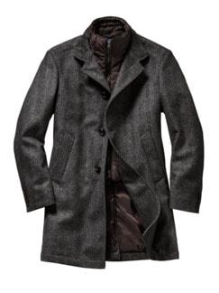 Ermittler-Mantel grau/braun Detail 1