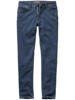 Gespülte Jeans blau Detail 1