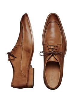 Mediterraner Businessschuh cognac Detail 1