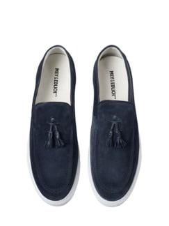 Tassel-Sneaker blau Detail 1