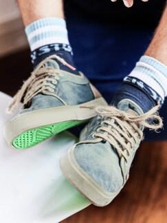 Veggie-Sneaker Heisei blue verdigris Detail 2