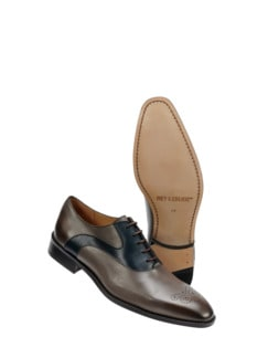 Hosenregal-Derby grau/blau Detail 1