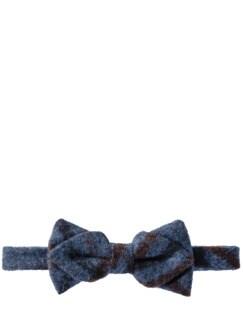 Ruppige Wollschleife blau/rost Detail 1