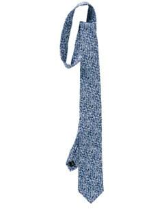 Pixel-Krawatte blau Detail 1