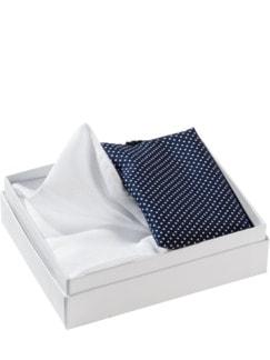 Handkerchiefs by Derek Rose uni weiß / blau Detail 1