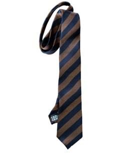 Hausse-Krawatte schmal blau/messing Detail 1