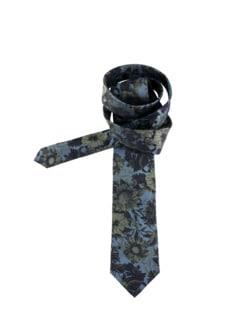 Schillernde Krawatte jeansblau Detail 1