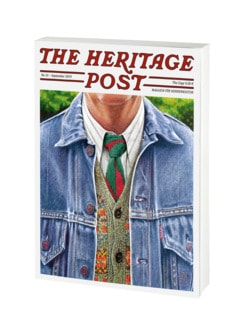The Heritage Post-Magazin weiß Detail 1