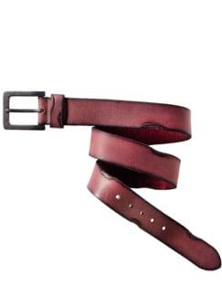 Lederwerk Gürtel I muleta-rot Detail 1